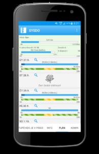 Náhled mobilní aplikace - plán práce