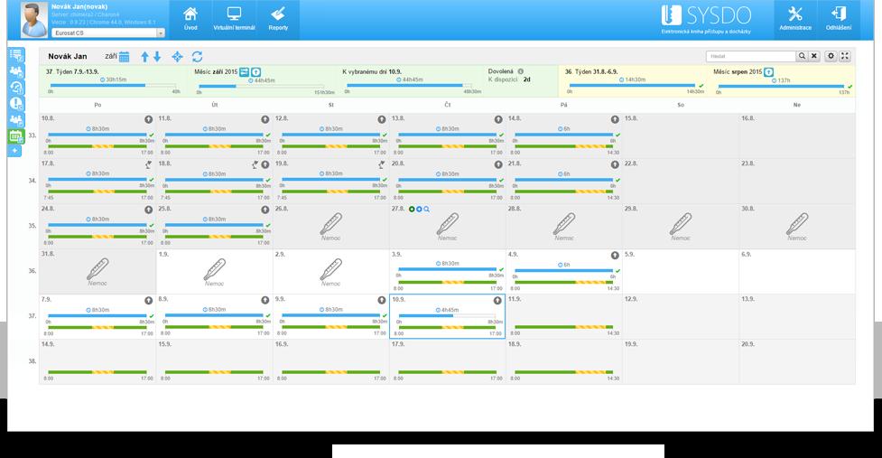 Ukázka aplikace - plán práce