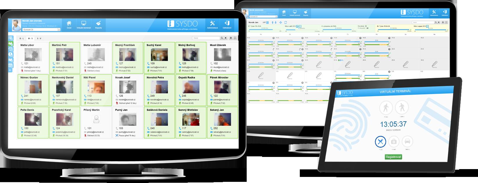 Docházkový systém SYSDO - různé platformy